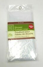 ~ Home Collection Bathroom Shower Curtain PEVA Plastic Liner Clear~NEW~