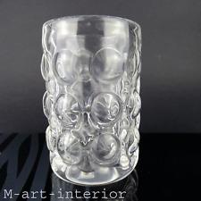 vintage Bubble Design Glas Vase Mid Century Modern Art Glass Scandinavia 1960s