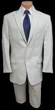 Men's Beige Tan 100% Linen Suit Jacket Destination Wedding Beach Cruise 44R