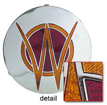 Willys Horn Button 1940s - 1950s Medallion Emblem 3-D stamped & Cloisonne Fired