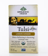 Organic India - Tulsi Lemon Ginger Tea - 18 Bags, 1.14 oz.