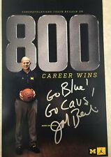 Michigan Wolverines JOHN BEILEIN Signed 800 Wins Nike Poster 11x17