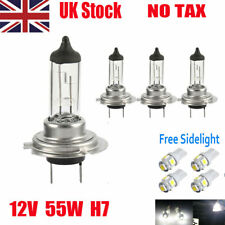 4 x H7 55W WHITE XENON UPGRADE HEADLIGHT BULBS SET HID 499 12V Halogen  FREE T10