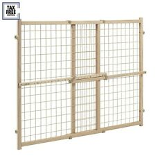 Position and Lock Tall Pressure Mount Wood Adjustable Gate Safety By Evenflo