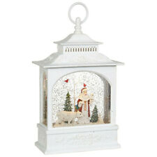 "11"" LED Lighted Santa and Polar Bear Water Snow Globe Christmas Lantern by RAZ"