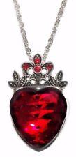 Disney Descendants Princess Evie Red Heart Crown Pendant Necklace
