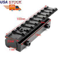 Hunt Rifle Scope Mount Base 11 mm to 20mm Dovetail Weaver Picatinny Rail Adapter