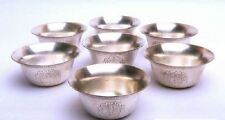 Set Of 7 Pcs. Silver Nickel Brass Religious Offering Traditional Holy Water Bowl