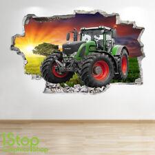 Tractor Wandaufkleber 3d Optik - Schlafzimmer Lounge Natur Farm Yards
