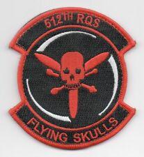 "USAF Patch 512th RESCUE  SQUADRON, Morale, 4"" Size"