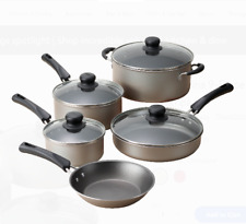 Cookware Set 9 Pcs Pots Pans Kitchen Nonstick Cooking Stainless Steel Champagne
