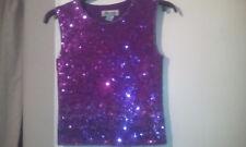 Silk/Cotton Monsoon Purple Sequinned Formal Vest sz10. Exquisite!