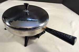 "Vintage Farberware 10 1/2"" Electric Skillet Model 300-A With Heat Control & Lid"