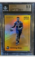 ZION WILLIAMSON 2019-20 NBA HOOPS #2 ARRIVING NOW HOLO ROOKIE CARD BGS 9.5 GEM!!