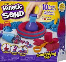 Kinetic Sand Sandisfying Set with 2lbs of Sand and 10 Tools for Kids Aged 3 a.