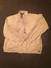 Patagonia Men's XL Beige Turtleneck Rain Jacket Cotton Blend Full Zip Up. TL7