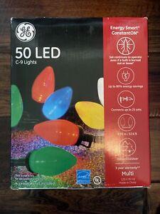 GE Energy Smart ConstantON LED C9 Multicolor Light Set, 50 Count NEW