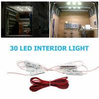 Bright interior LED van loading bay light kits for commercial vehicles rear cab