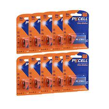 10 pièces 9V Batterie 9 volts 6LR61 1604A 6LF22 EN22 MN1604 Piles Alcalines @