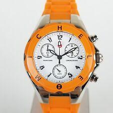 Michele Womens Tahitian Jelly Bean Orange Chronograph Watch