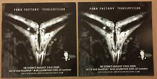 Fear Factory Rare Set of 2 Double Sided Promo Poster Flat for Transgression Cd
