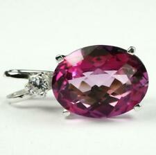 925 Sterling Silver Pendant, Pure Pink Topaz, SP085