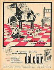 PUBLICITE ADVERTISING 124  1962  DAL CLAIR     entrtien sols