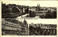 Luxembourg s/w AK franiert 1960 Pont Adolphe Passerelle Teilansicht Kirche u.a