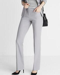 NWOT EXPRESS HEATHER GRAY EDITOR BARELY BOOT PANTS sz 6S