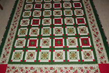 """LONG ARM QUILTED HANDMADE QUILT CALLED """"CHRISTMAS IN JULY"""" 76"""" X 86"""" LONG NEW"""
