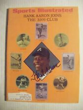 HANK AARON signed May 1970 Sports Illustrated baseball magazine AUTO Autographed