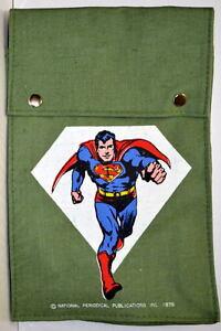 SUPERMAN CANVAS BACKPACK / SCHOOL BAG Rare DC 1976 UNUSED