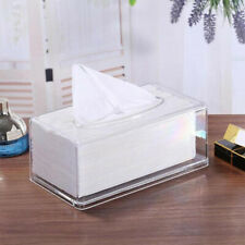 KF_ FT- Acrylic Clear Transparent Tissue Box Cover Rectangular Holder Paper