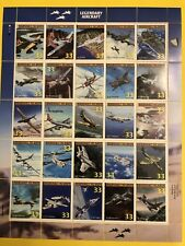 Legendary Aircraft Stamp Sheet 1999 New Free Shipping