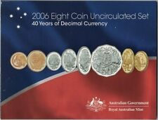 2006 Australian Eight Coin Uncirculated Set - 40 Years of Decimal Currency