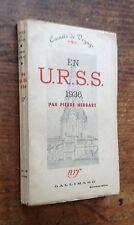 rare 1937 PIERRE HERBART : EN URSS 1936