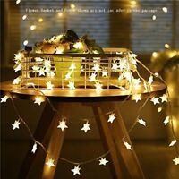 50 LED Christmas Fairy String Star Lights Wedding Xmas Party Decor Lamp Yellow