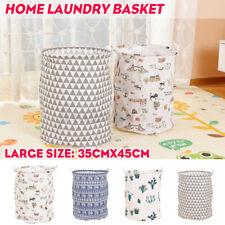 Laundry Basket Bin Up Folding Wash Basket Bag Storage Hamper Dirty