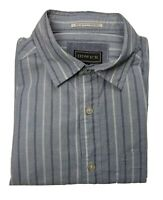 Howick Men's Blue Striped Long Sleeve Shirt Size Small S - 100% Cotton