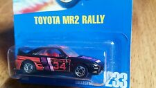 HOT WHEELS ~TOYOTA MR2 RALLY-RARE #233~VHTF~5-SPOKE-VARIATION~1991~BLUE CARD