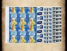 US Stamps Lot of 4 Space Sheets 1434-1435 1557 1569-1570 1912-1919 MNH