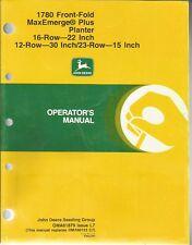 John Deere 1780 Front-Fold MaxEmerge Plus Planter Operator's Manual