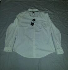 Tommy Hilfiger Long Sleeve Button Down Shirt Solid Tops & Blouses for Women