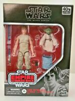 Star Wars Black Series Luke Skywalker & Yoda Jedi Training 6 Inch Figures Hasbro