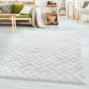 Kurzflor Design Teppich PIA Looped Flor Kreuz Labyrinth Muster