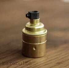 Vintage brass E27/ES/Screw pendant bulb lamp holder   light fitting
