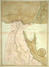 EGYPT WITH PART OF ARABIA AND PALESTINE BY LAURIE & WHITTLE 1801