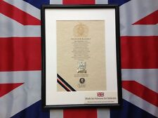 Oath Of Allegiance Royal Scots Dragoon Guards (framed with Cap Badge)