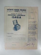 Istruzioni per l'uso dei contatori di controllo Isaria. Pieghevole pubblicitario