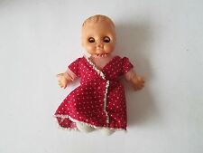 Vintage UNEEDA Baby Doll Valentine Heart Dress Open Close Blinking Eyes Dolliken